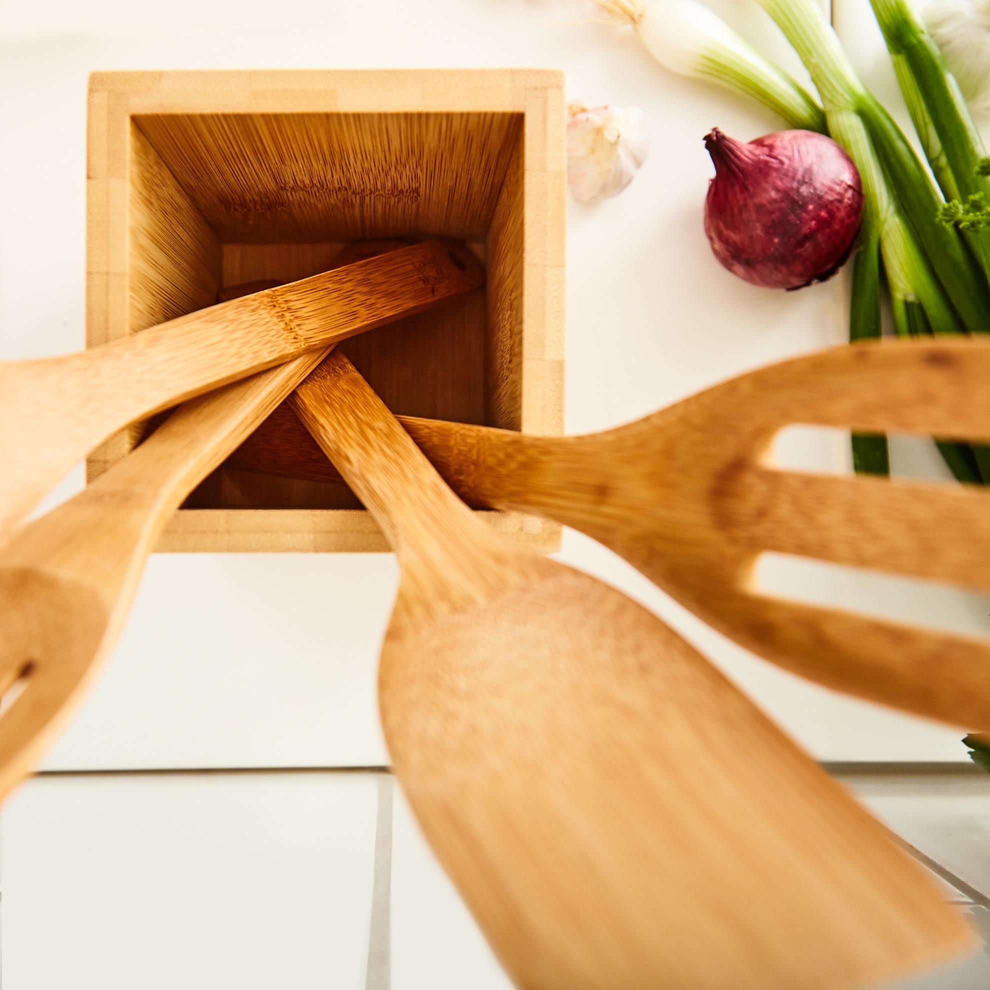Bambuswald Küchenhelfer Set 6-teilig inkl. Aufbewahrungsbox