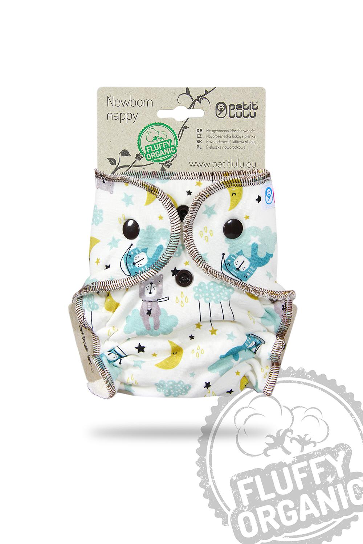 Petit Lulu Höschenwindel Newborn Fluffy Organic mit Druckknöpfen