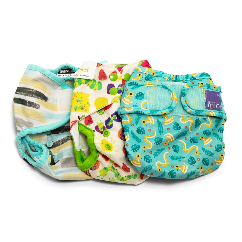 Stoffwindel-Mietpaket für Neugeborene Klein