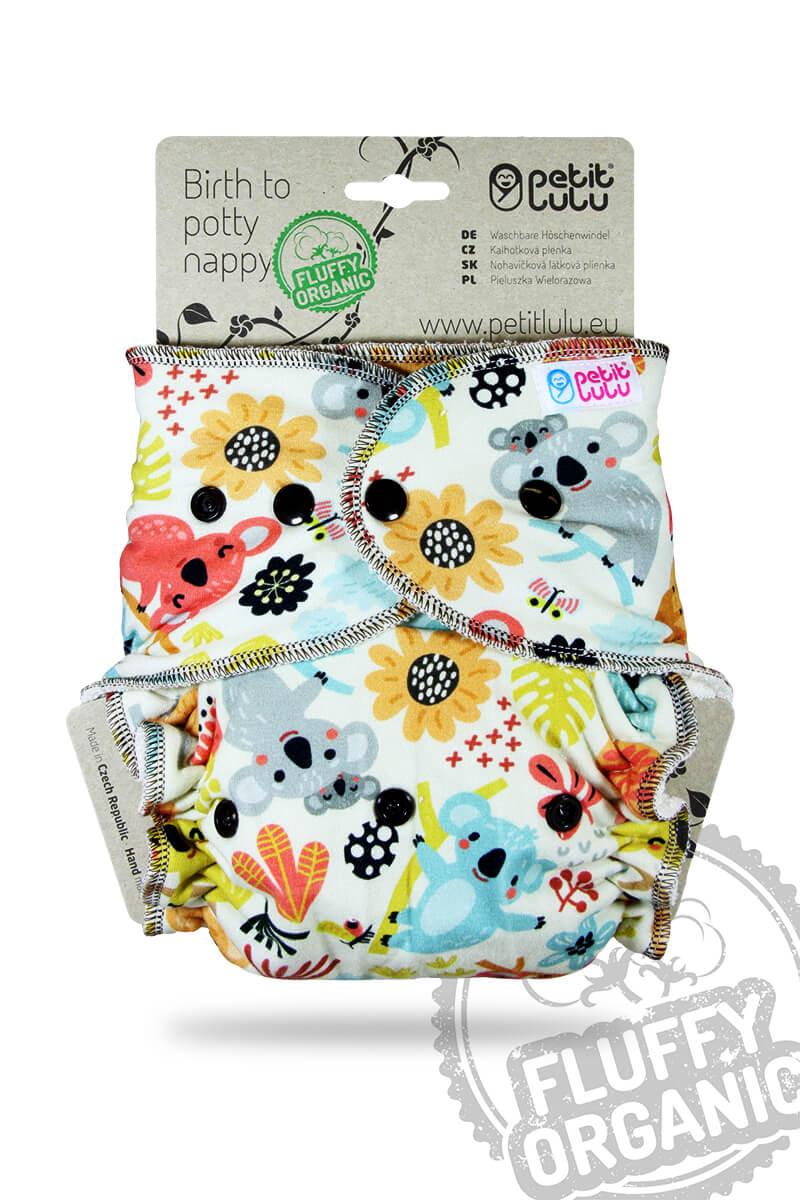 Petit Lulu Höschenwindel Fluffy Organic One Size mit Druckknöpfen