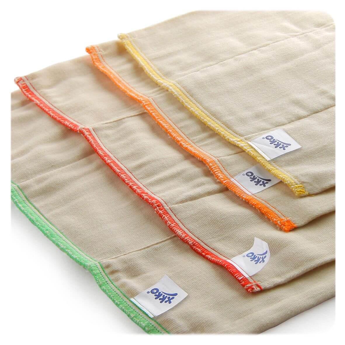 XKKO Prefolds Bio-Baumwolle 6 Stück