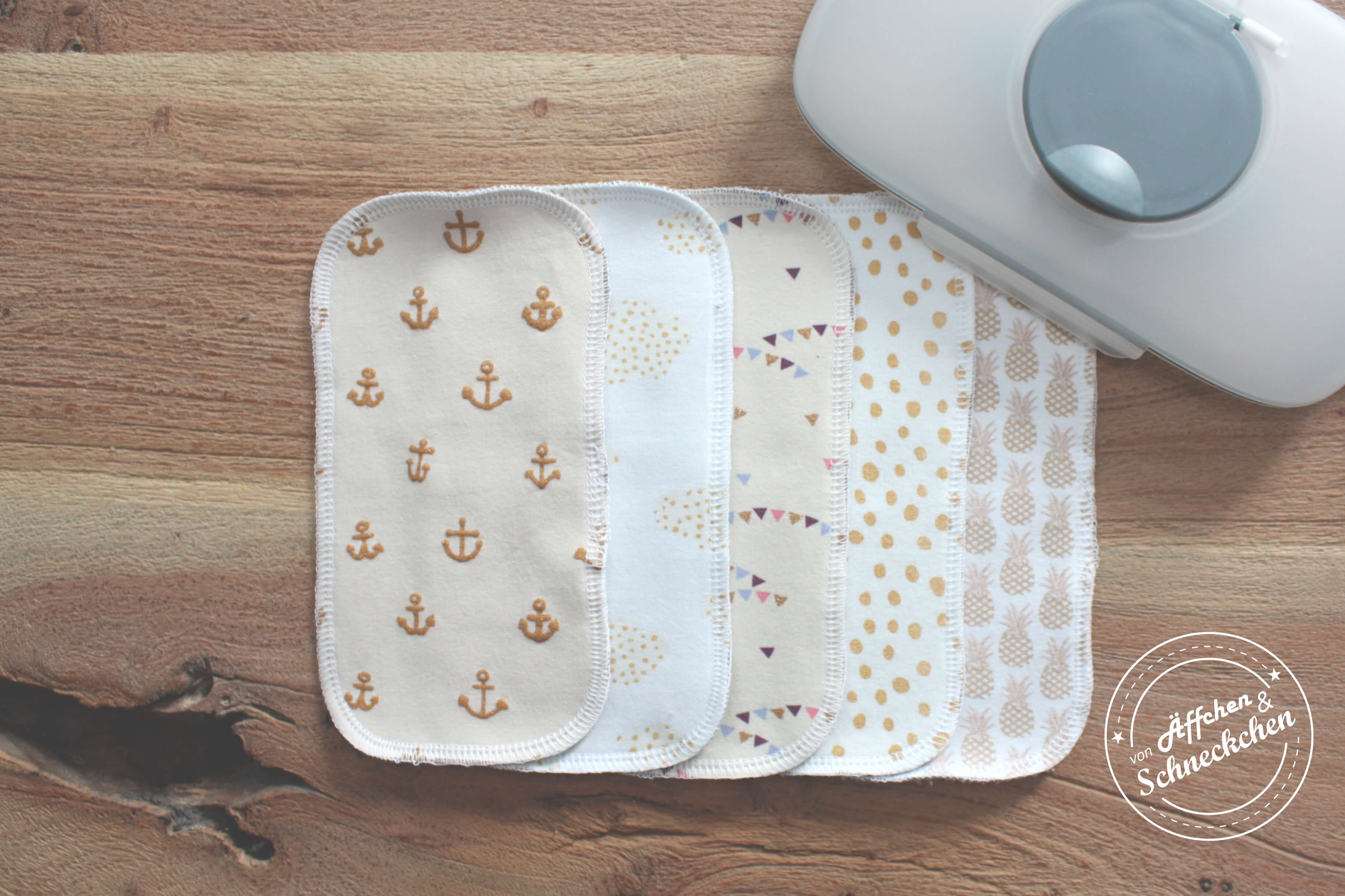 Von Äffchen & Schneckchen Waschlappen 5 Stück