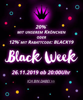 Die Black Week 2019 - tolle Rabatte und Aktionen mit der schwarzen Ananas