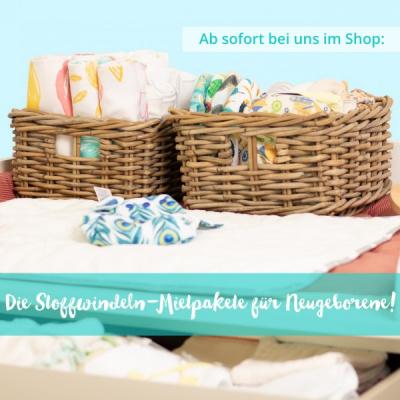 Jetzt neu im Ananas.Shop: Unsere brandneuen Stoffwindel-Mietpakete für Neugeborene sind da!