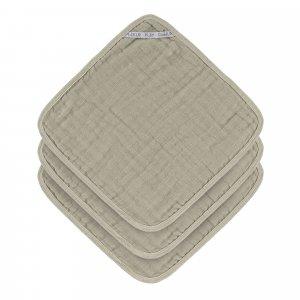 Lässig Waschlappen aus Mull 3 Stück