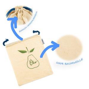Skojig Brot- und Gemüsetaschen Baumwolle 4 Stück