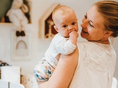 Ananas Mama Und Baby Mit Stoffwindel