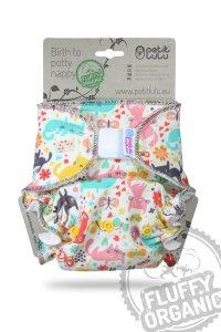 Petit Lulu Maxi Nachtwindel Fluffy Organic mit Klettverschluss