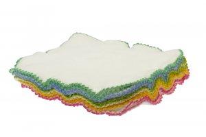 Blümchen Kuschel-Reinigungstücher Bio-Baumwolle 10 Stück